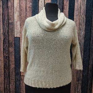 Sequin Light Gold Sweater